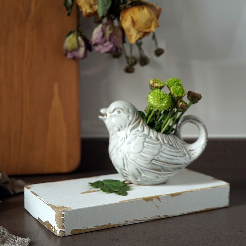 SWEETGO Wood Board Vintage White Style Handmade Dessert Tray Cake Table Decoration Makeup Jewelry Coffee Coaster Cup Mat