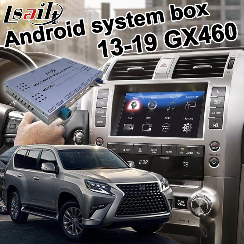 Android GPS Navigation Box For Lexus GX460 GX 2013-2019 Video Interface Box With GVIF Carplay Youtube Waze Yandex By Lsailt
