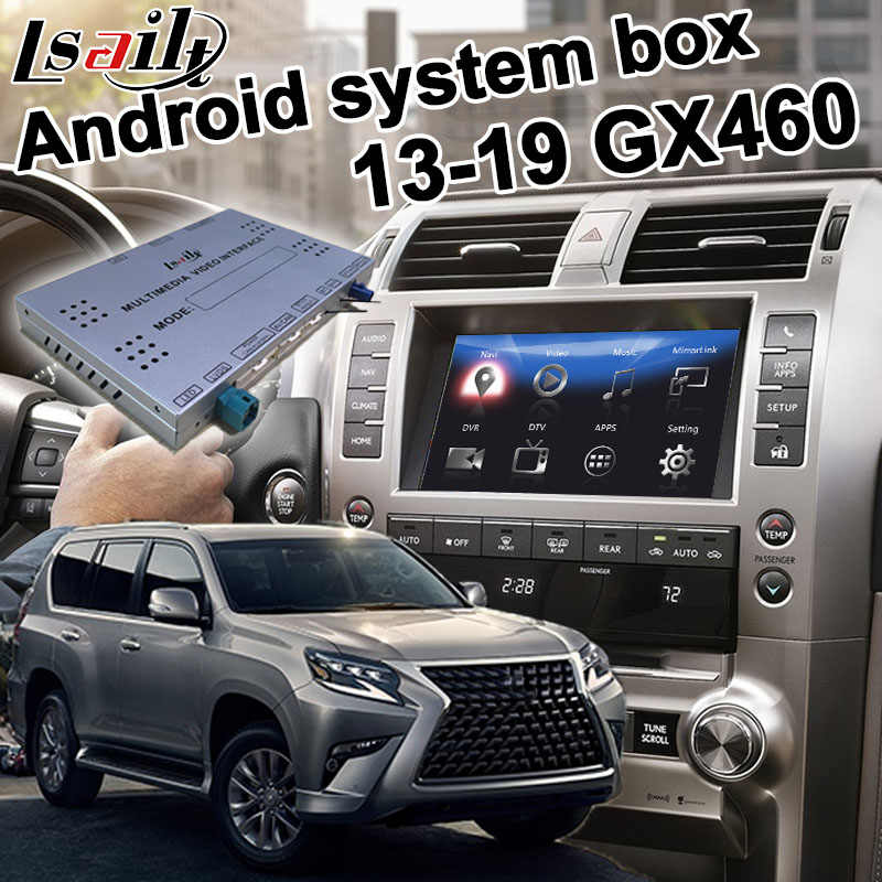 Android / carplay interface box for Lexus GX460 GX 2013-2019 video interface box with GVIF youtube waze yandex by lsailt