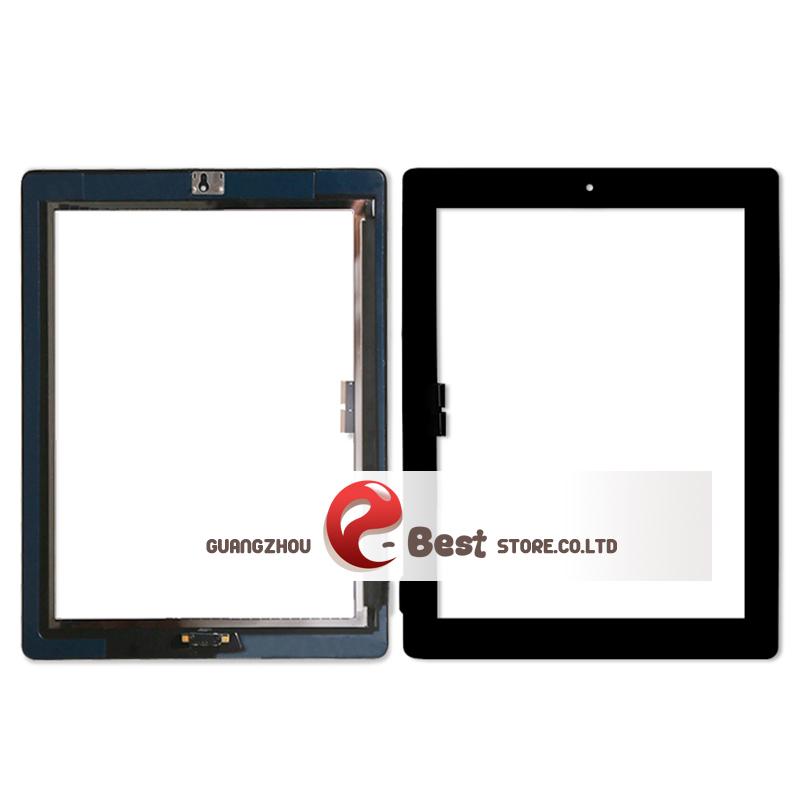 Touch Screen Glass Digitizer Assembly for iPad 3/ 4 with Adhesive Glue Sticker Replacement Repair Parts