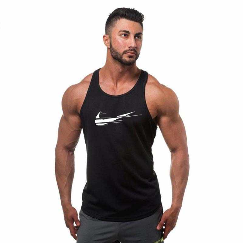 3ab5ed44536621 ... Bodybuilding Tank Top Solid Gym Singlet Muscle Mens Racer-back  Bodybuilding Stringers Tank Tops workout ...