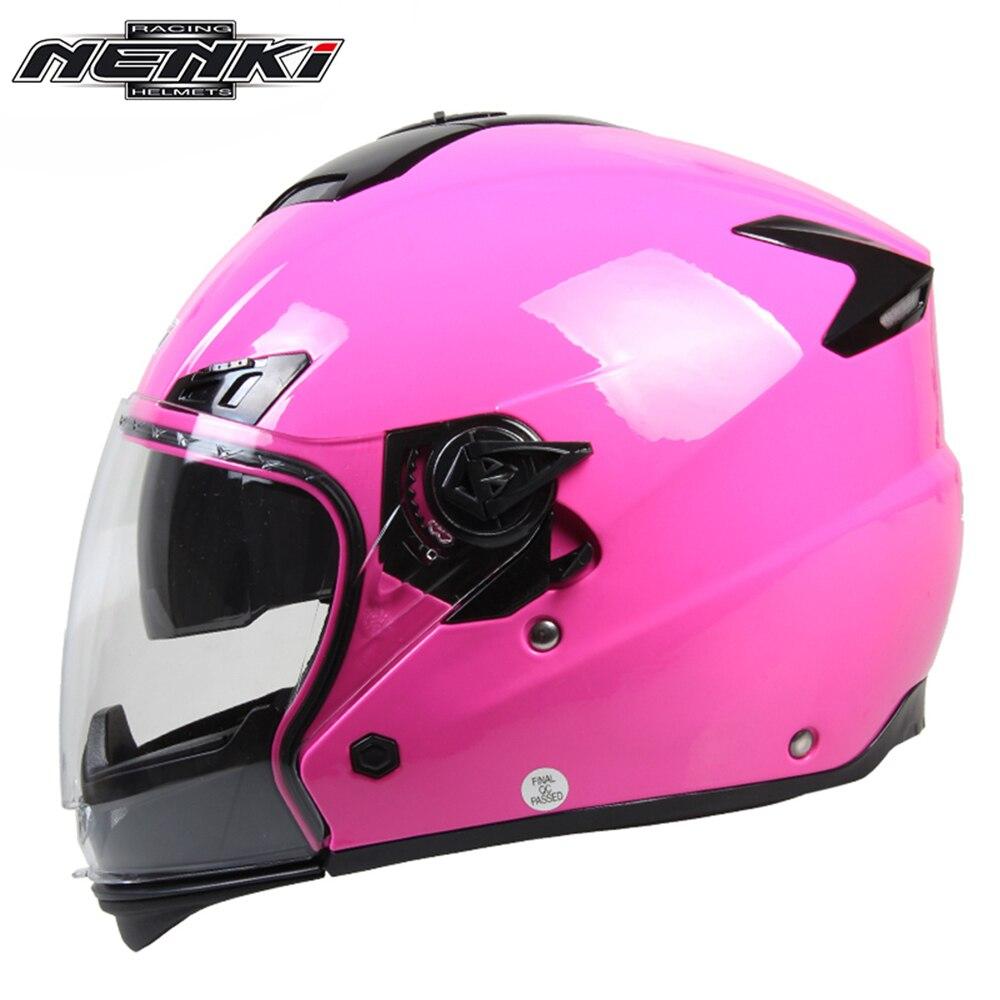 ФОТО NENKI Motorcycle Helmet Fashion Design Full Face Racing Helmets With Dual Visor Sun Shield Lens Motorbike Riding Street