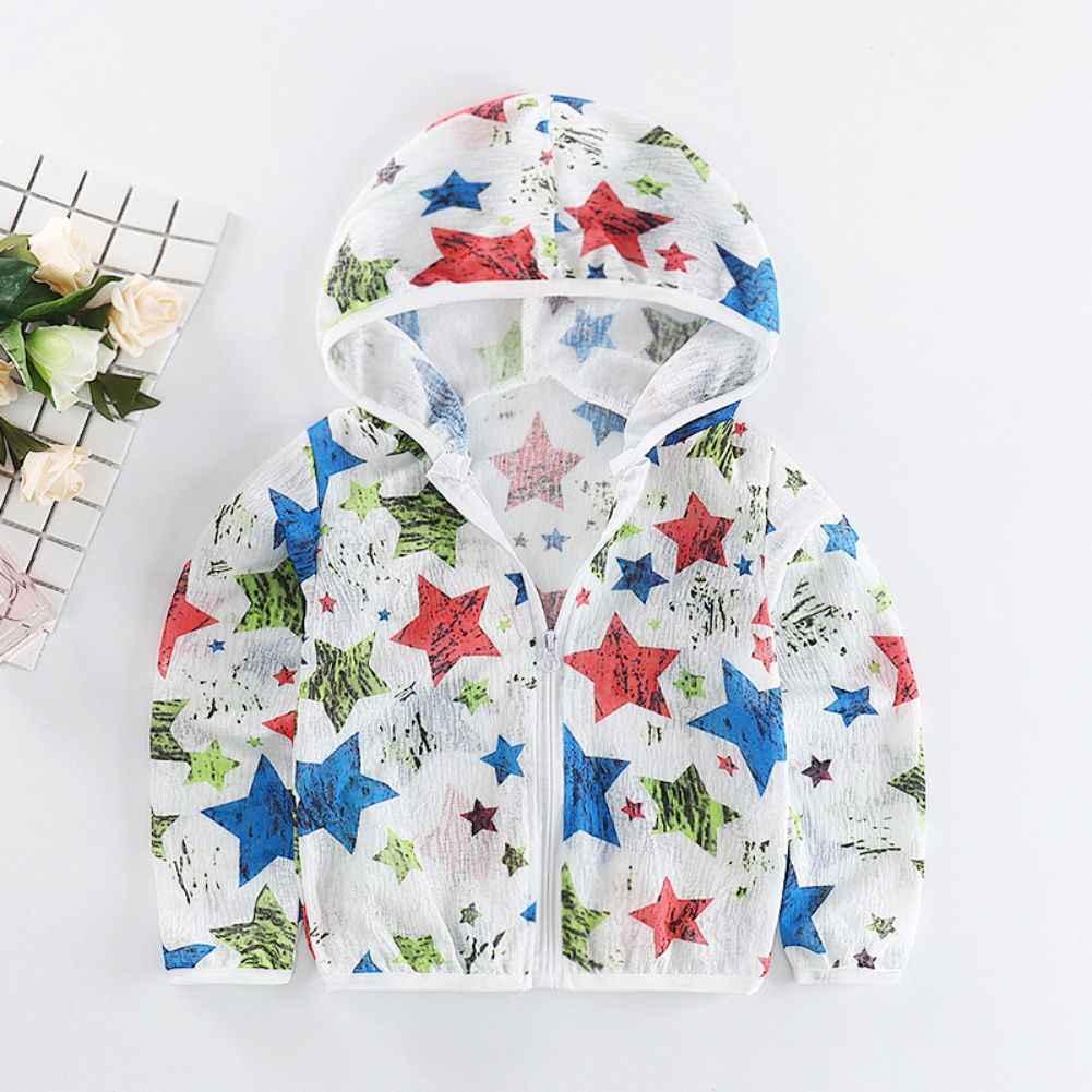ילדים בגדי קיץ בני מעילי כדור הדפסת קריקטורה תינוק בנות הגנת הילדים בגדי זעיר כותנה
