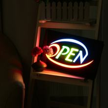 OPEN LED Neon Sign Bar Shop Business Display Studio Window Hanging Light Visual Artworks LED Board Decor Crafts Neon Light Sign(China)