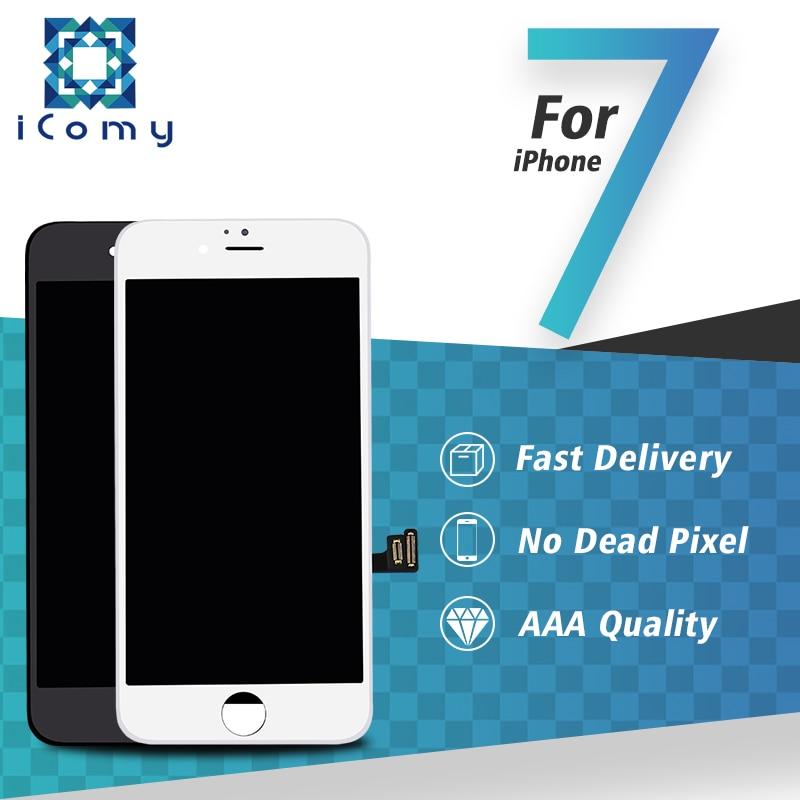 imágenes para 3 unids/lote tianma para iphone 7 pantalla lcd touch screen reemplazo digitalizador asamblea envío libre de dhl