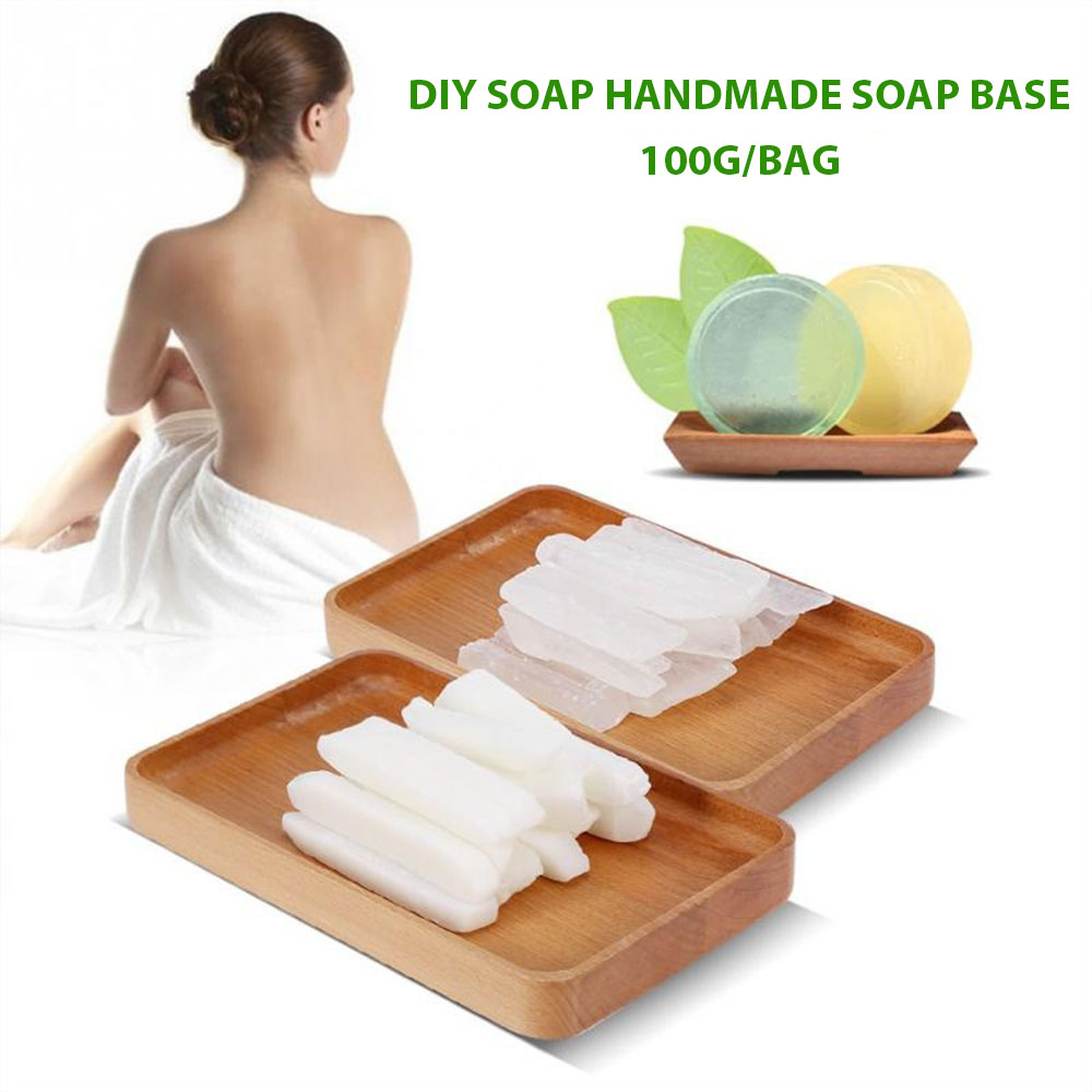 1 Pack/100g Transparent White DIY Handmade Soap Base Raw Material Natural Oils Handmade Making Hand Body Cloth Washing Soap Base