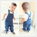 80-95 cm de altura de outono e primavera meninas e meninos de jeans macacão macacão jeans bebê pode abrir arquivos de cowboy Do Bebê macacão Bebê Bib