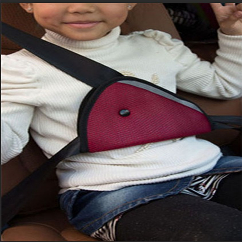 Auto Safety Child Baby Safety Protection Positioner Breathable Triangle Kids Car Fit Seat Belt Adjuster
