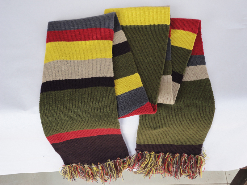 Dr Who 4th Doctor 12 Striped Scarf Costume New Tom Baker 12 Feet In