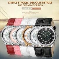 VILAM Top Brand Leather Strap Women Watch Crystal Diamond Dress Ladies Casual Quartz Watches Sport Wristwatch