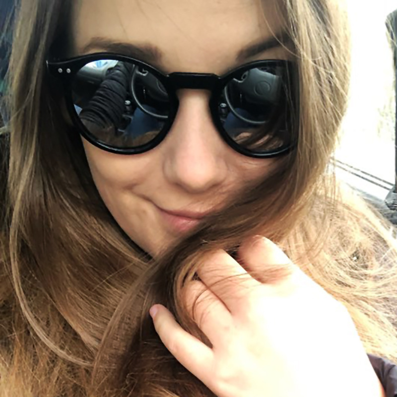 2019 Women's New Fashion Trend Brand Round Polarized Sunglasses UV400 Female Cateye Shade Travel Sun Glasses Multi-color Lens