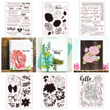 8 Sets Transparent Clear Silicone Stamp Set/Seals for DIY Scrapbooking/Photo Album Cards Making Decorative Clear Stamp 6x8inch