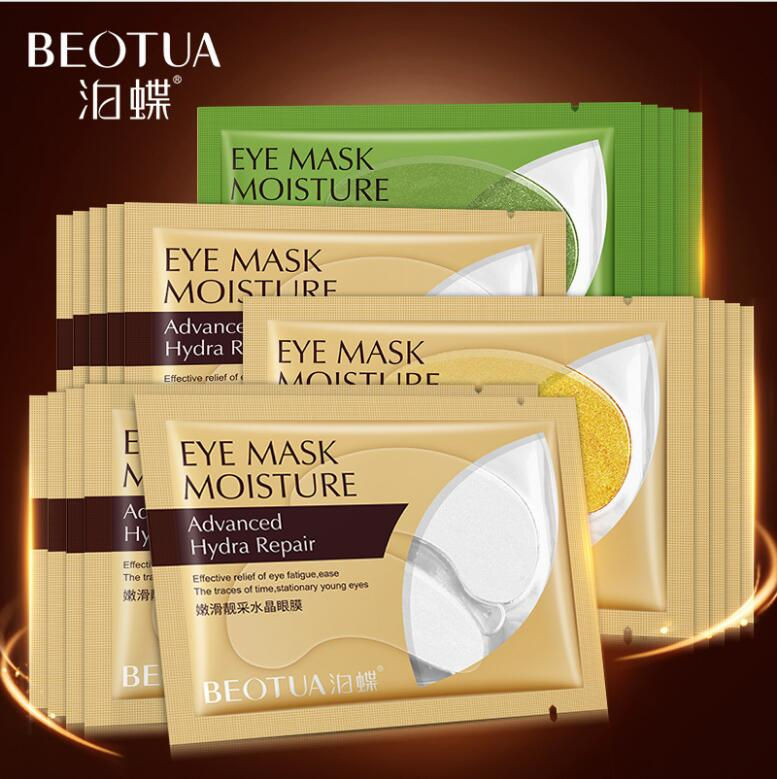 6Pcs=3Pair Gold Crystal Collagen Eye Mask Eye Patches For Eye Care Dark Circles Remove Anti-Aging Wrinkle Skin Care