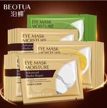6Pcs=3Pair Gold Crystal Collagen Eye Mask Eye Patches For Eye Care Dark Circles Remove Anti-Aging Wrinkle Skin Care(China)