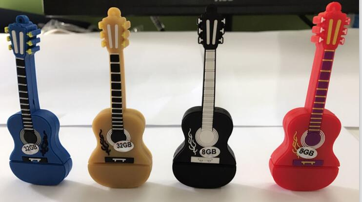 %Best 100% real capacity modern guitar cartoon usb flash drive memory stick pen drive U disk pendrive guitar/violinS331usb stick