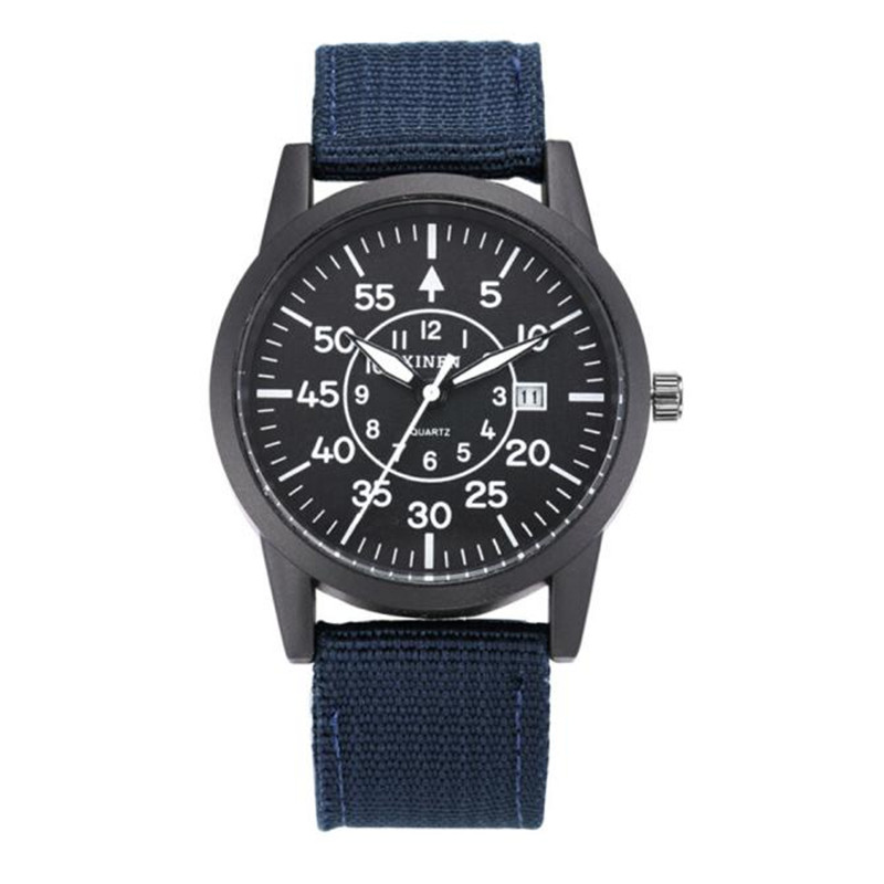 Mens Stainless Steel Military Sport Date Analog Quartz army Style Wrist Watch Brand New High