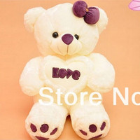 Love Teddy Bear Plush Toy Love Bear Soft toy Gift For Lover Christmas Gift 60CM Size Factory Supply
