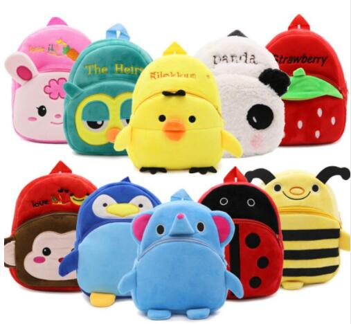New cute Childrens school bag cartoon mini plush backpack for kindergarten boys girls baby kids gift student lovely schoolbag
