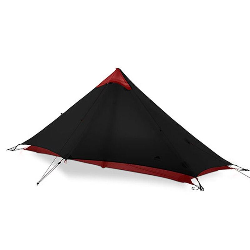 3F UL Gear LanShan 1 ultra-léger 15D Silicone enduit 1 homme seule personne sac à dos tente 3 saison pour Camping randonnée Trekking