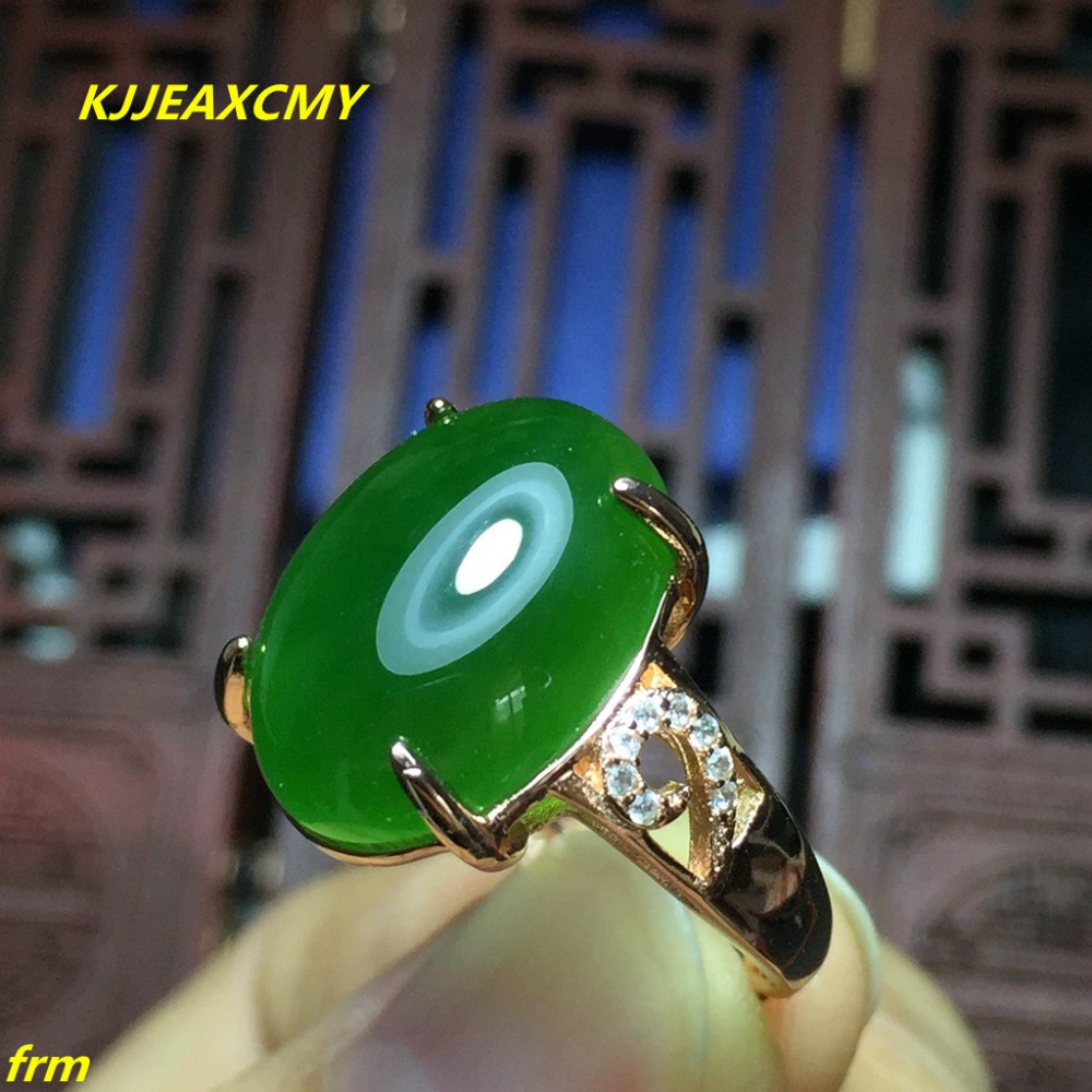 KJJEAXCMY Fine jewelry 925 sterling silver inlaid natural Hetian Jasper men and women ring kjjeaxcmy fine jewelry sterling silver 925 sterling silver natural jasper ladies bracelet inlaid jewelry natural jewelry
