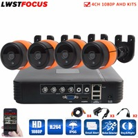 LWSTFOCUS 1080P 4CH AHD Kit 3000TVL Outdoor Security Camera System 1080P HDMI CCTV Video Surveillance 4CH