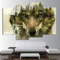 4 adet Soyut hayvan kurt Wall Art Resim, 5d diy Tam kare Elmas Boyama, Dikiş Çapraz, mozaik, elmas Nakış ev dekor