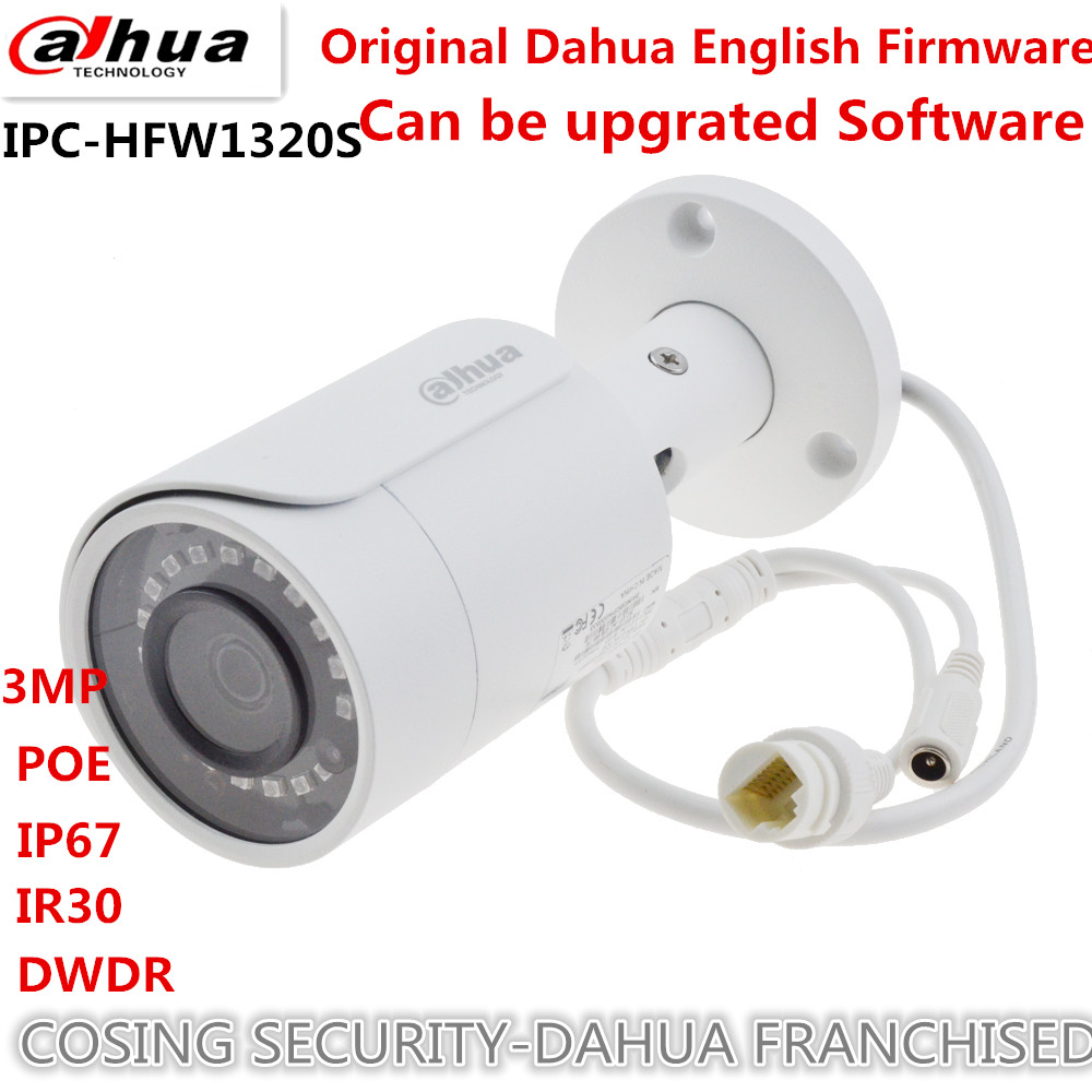 Original DaHua 3MP Mini Bullet IP Camera Day/ Night infrared CCTV Camera POE Support IP67 Waterproof Security Cam can be upgrate