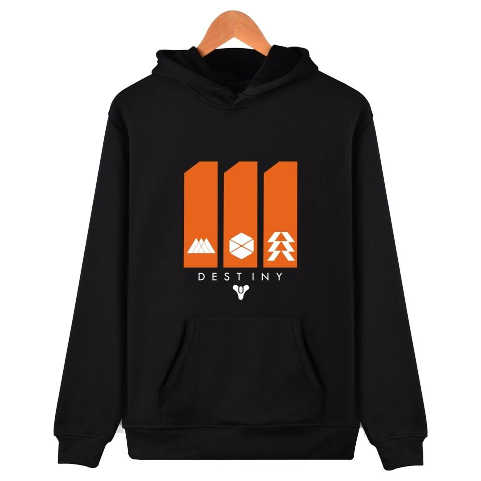 New Destiny Hoodies Autumn Printing Pattern Black Plus Size 4XL Loose Mens Casual Hooded Pullover Sweatshirts Coats Destiny