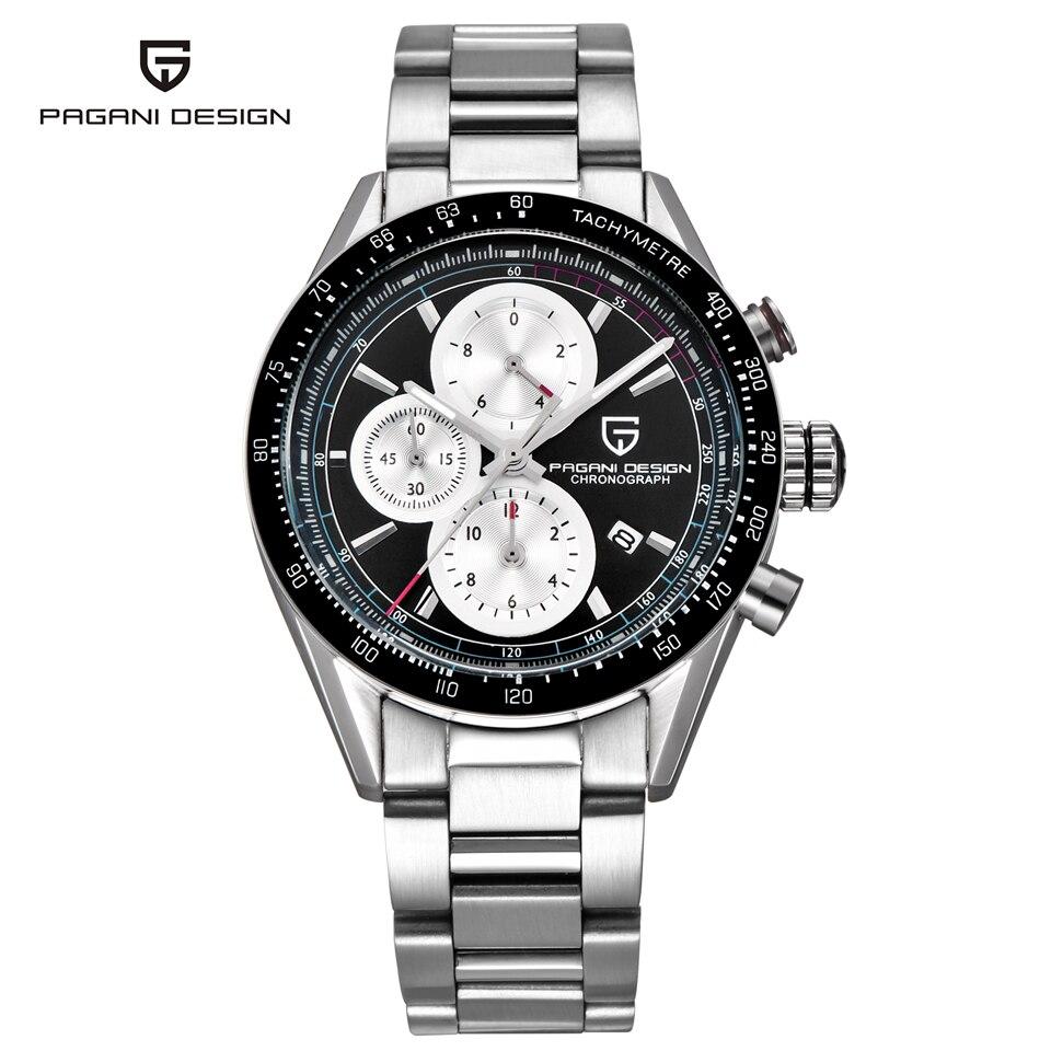 PAGANI projekt zegarek militarny luksusowej marki mężczyźni 50 M wodoodporny Sport zegarek kwarcowy zegarek na rękę zegar z kalendarzem mężczyzna Saat Relogio Masculino w Zegarki kwarcowe od Zegarki na  Grupa 1