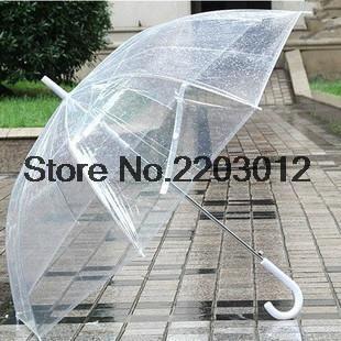 Прозрачный пластик ПВХ автоматический зонт солнечный дождливый творческий зонтик много цветов