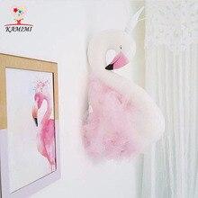 KAMIMI Handmade Flamingo Swan Stuffed Toys Wedding Room Decorations Wall Decoration Cute Girls Swan Doll Wedding Toys Gifts