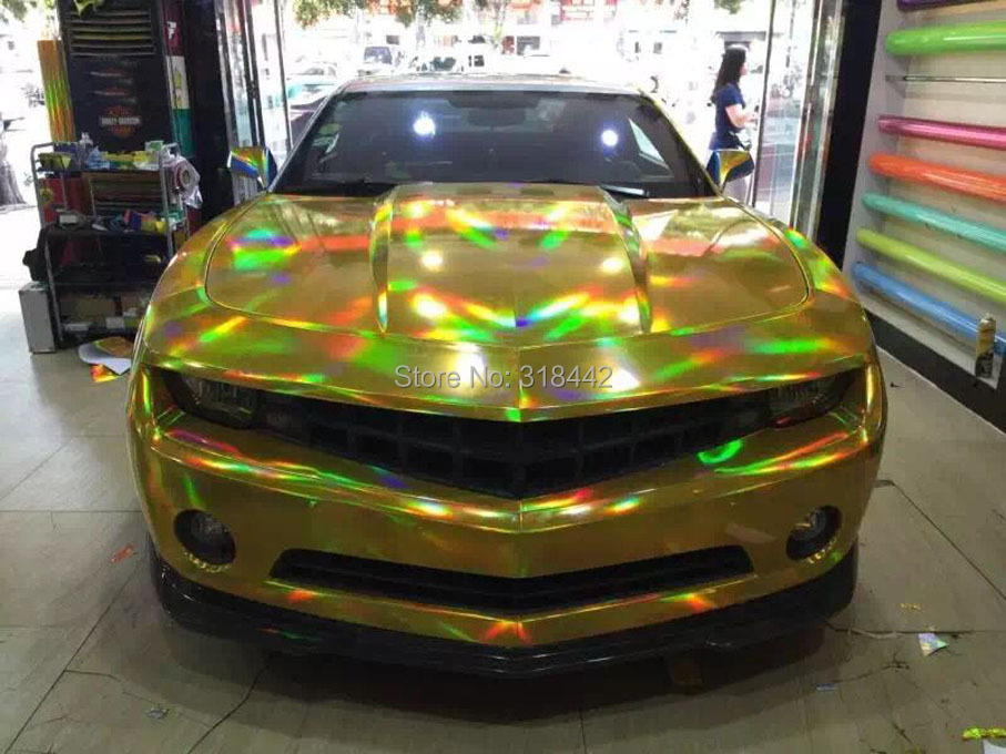 30 см X 152 см/лот голографическая Автомобильная виниловая пленка для украшения кузова автомобиля с воздушными пузырьками, автомобильная наклейка