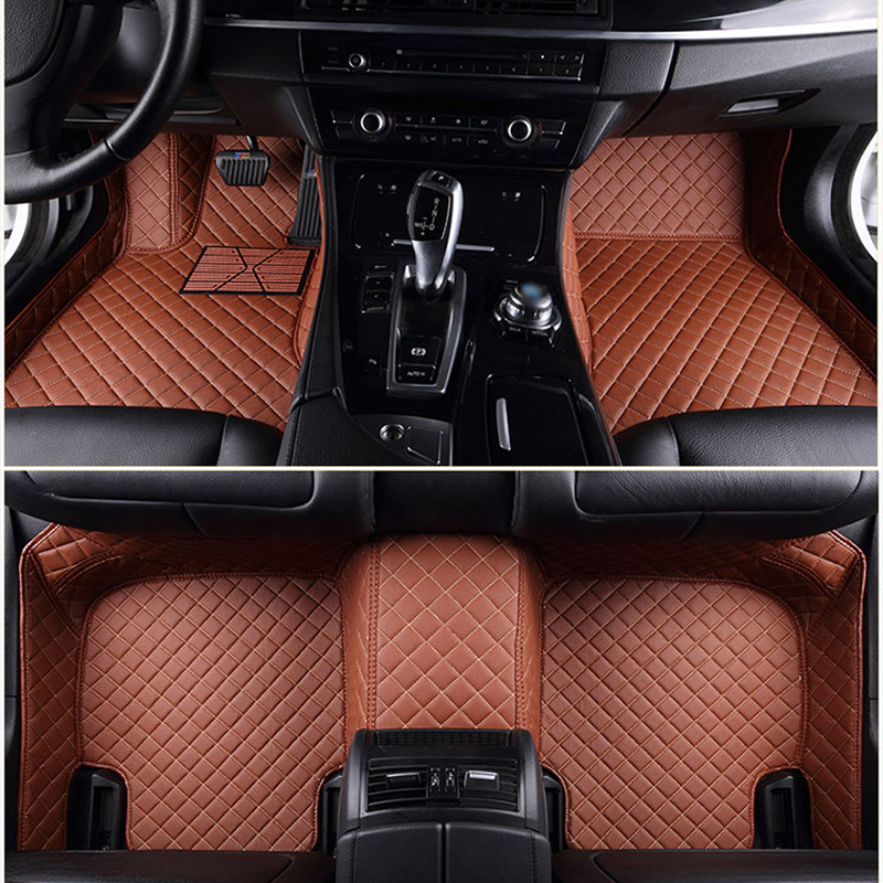 Custom fit Automotive floor foot Mats exact fit for all car models Audi Land Rover BMW full coverage 3D PU floor covers Carpets