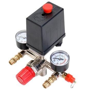 125 PSI 12 Bar pequeño compresor de aire interruptor de presión Control regulador ajustable instrumento de válvula