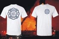 2018 New Arrival Policzkowe Ludzie Ramones Wolontariat Pożaru strażak Dział Rescue Emt T-Shirt Graficzne Biały koszulkę