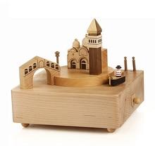 Wood Rotation Creative Birthday Gift Send Men And Women Friends Music Box Holiday Gift Christmas-music-box