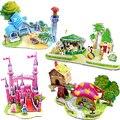 DIY 3D Головоломки для Детей Развивающие Игрушки милый Замок Вилла Корабль стиль для детей подарок
