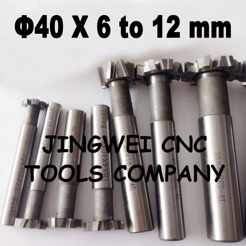 Good quality HSSAL t slot milling cutter 40mm*6MM,8MM,10MM,12MM economy price good quality milling depth measuring micormeter 0 100mm