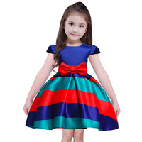 2018 New Retail New Style Summer Baby Girl Fashion Stripe Girl Dress For Wedding Girls Party
