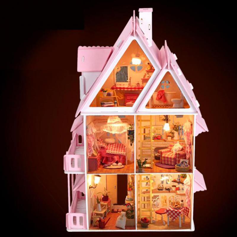bohs diy casa de muecas de madera sol alicia presentes regalo de cumpleaos grande villa manual modelo de construccin dioramas en kits de edificio modelo