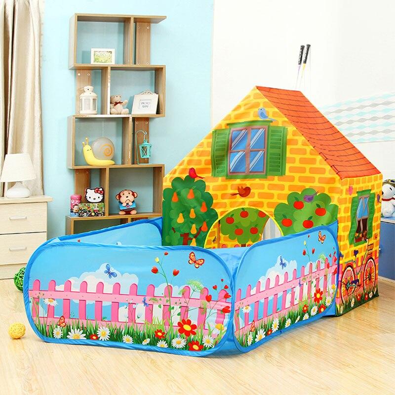 Enfants Cottage jouer tente jouets bébé balle fosses piscine infantile océan balles parc pour enfants Playgournd pliable Portable Playhouse