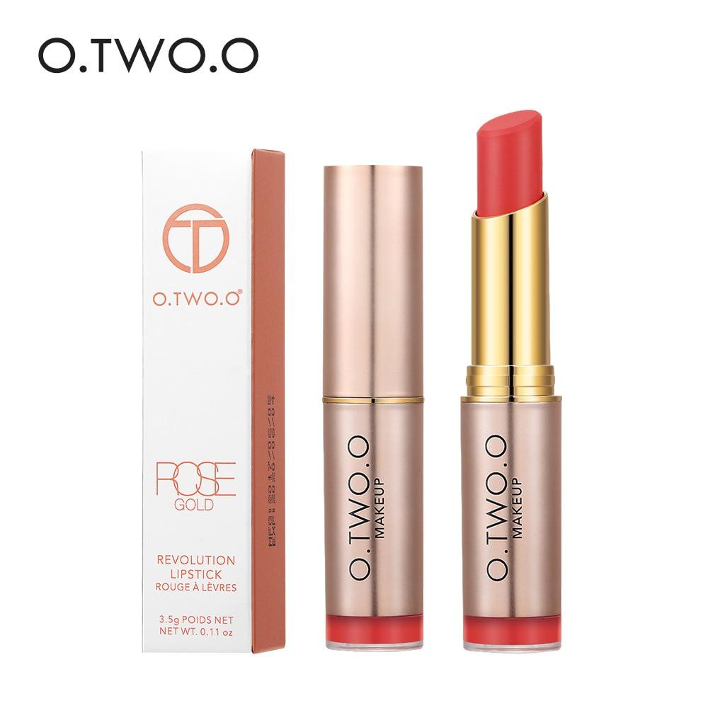 O.TWO.O Matte Lipstick Waterproof Lip Tattoos Cosmetic Long Lasting Moisturizer Rose Gold Revolution Lipstick Makeup Maquillage  1