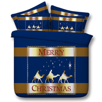 Merry Christmas Bedding Set Star Designer Duvet Cover Super King Queen Size Twin Sheets Bed Sheet