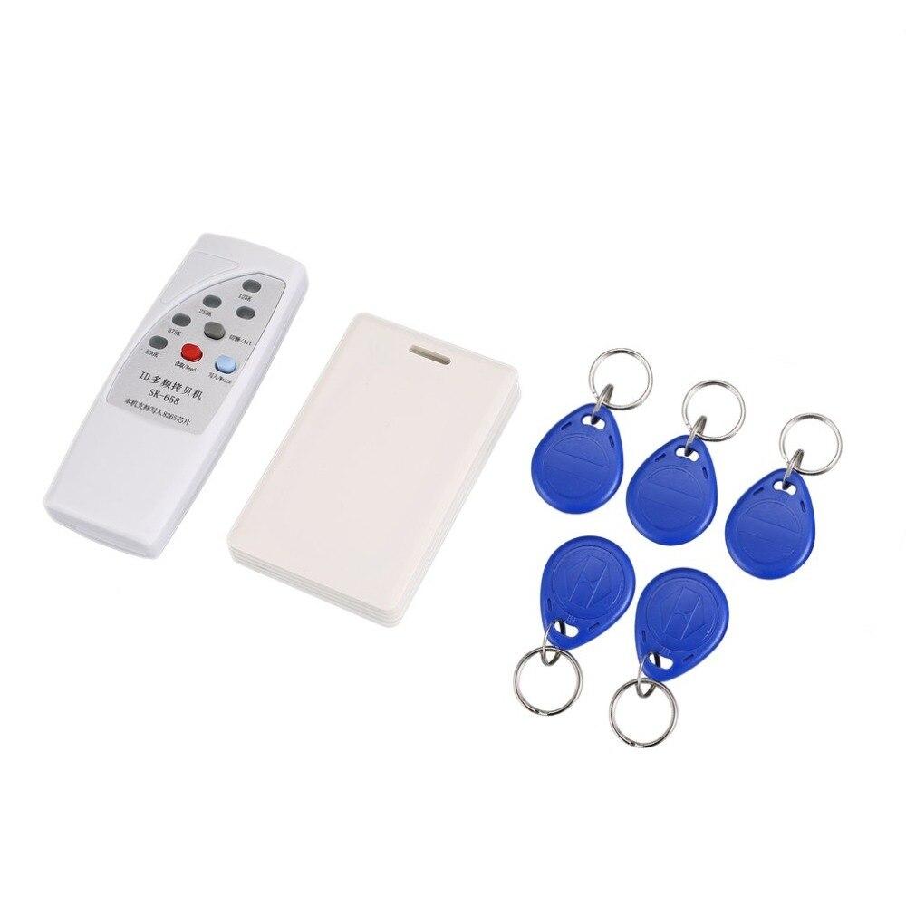 RFID Reader 125KHz EM4100 ID Card Copier/RFID Duplicator + 5pcs Chip Key Card Token Tags + 6pcs Keyfobs id card 125khz rfid reader