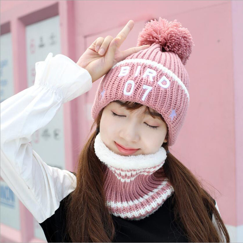 2018 Winter   Beanie   Scarf Hat   skullies     Beanies   Skull Soft Warm Baggy Cap Mask Winter Hats Gorros For Men Women Knitted Hat