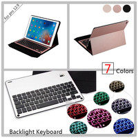 Aluminum Keyboard Cover Case With Backlight Backlit Wireless Bluetooth Keyboard Power Bank For New Ipad Pro