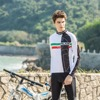ILPALADINO Cycling Jersey Red Green Horizontal Stripes White Wolf For Men Mountain Bike Bicycle Diwn Hill