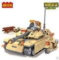 Cogo 13333 serie militar blindada tanque del coche 278 unids Building Block Sets Educational DIY juguetes de los ladrillos