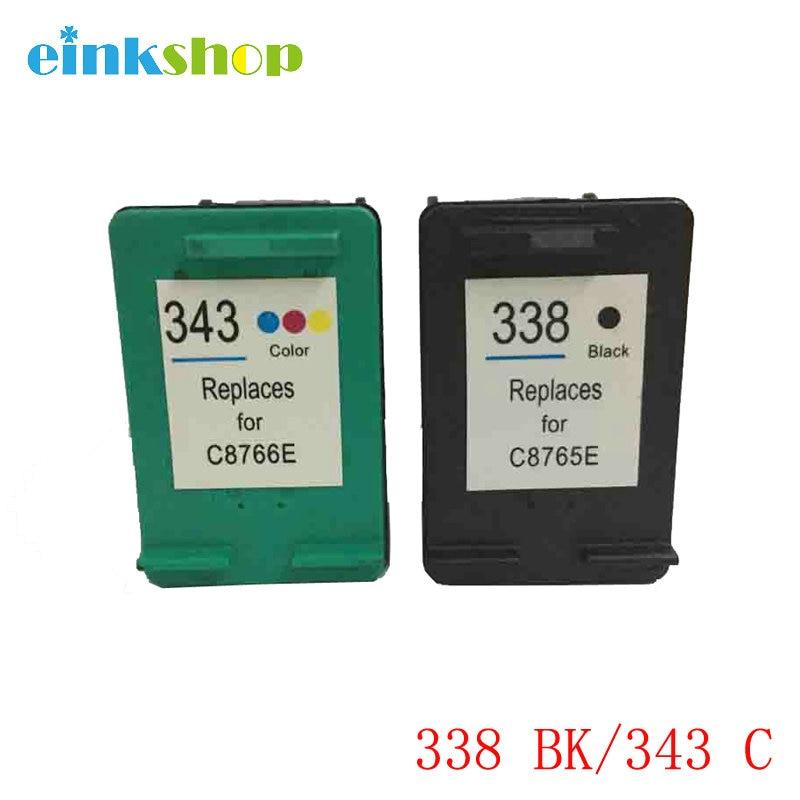 einkshop 343 338 Αντικατάσταση δοχείου μελανιού για HP 338 343 PSC 1500 1510 1513 1600 Εκτυπωτής Photosmart C3100 C3110 C3150