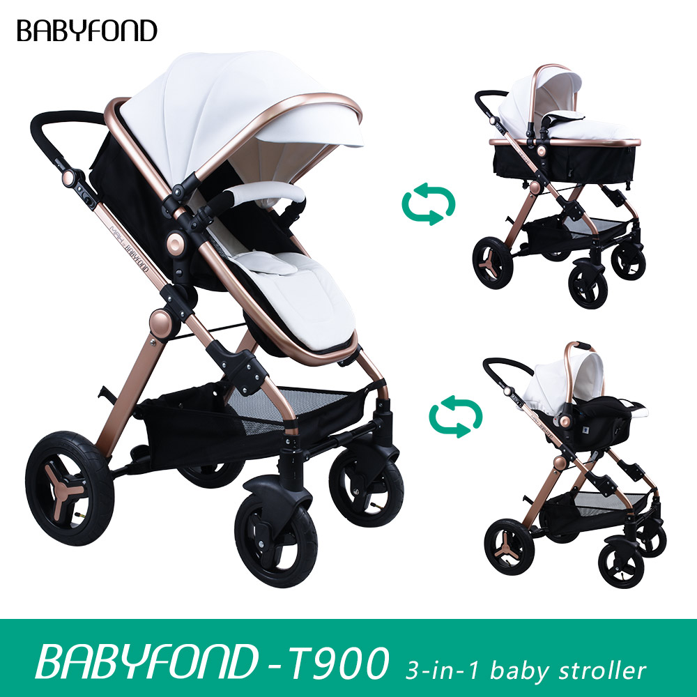3 Wheel Baby Prams Us 389 9 Ru Free Shipt900 Luxury 3 In 1 Stroller Two Way High Landscape Baby Pram Gold Frame With Car Seat Send Gifts Maximum Discount In Four
